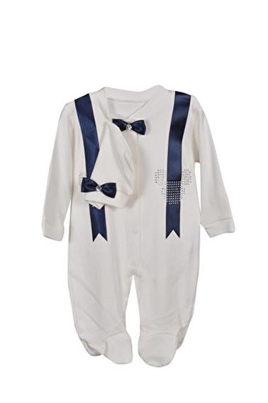 Sema Bebe Necixs Taşlı Slopet Tulum Kız Bebek Giyim Lacivert